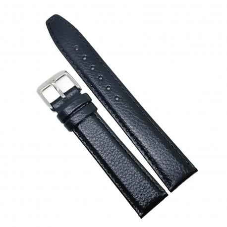 Curea de ceas din Piele Naturala - Culoare Neagra, textura semilucioasa - 18mm - GR3878