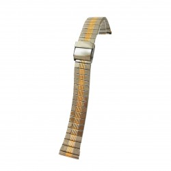 Bratara pentru ceas Bicolora - Argintiu cu Auriu - 18mm - WZ3962