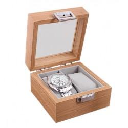 Caseta pentru 2 ceasuri - Lemn Natur - WZ4011