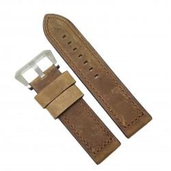 Curea de ceas deBeer Paris - Robusta - Piele Naturala - Culoare Brun-Deschis - 24mm - WZ4025