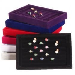 Suport organizare inele bijuterii butoni - Negru / Gri / Rosu - 23cm - WZ444