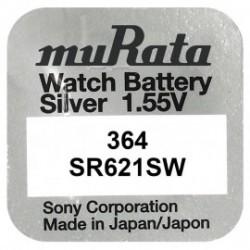 Baterie pentru ceas - Murata SR621SW - 364