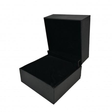 Cutie pentru 1 ceas - Piele Ecologica Neagra - Imprimeu Sarpe - WZ4119