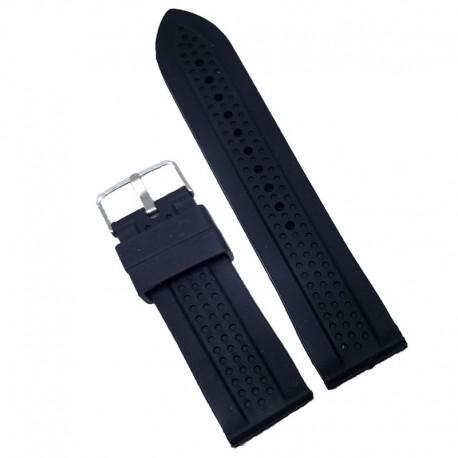 Curea ceas silicon neagra 26mm WZ962