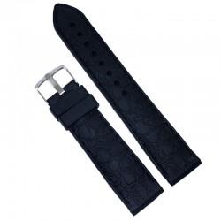 Curea de ceas din silicon Neagra - 20mm WZ599