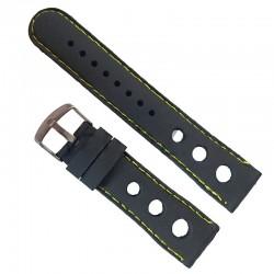 Curea ceas din silicon cu gauri 22mm WZ951