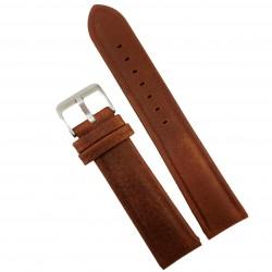Curea ceas din piele maro 20mm 22mm WZ4156