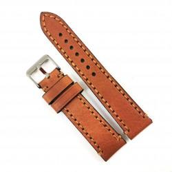 Curea de ceas maro din piele naturala 18mm 20mm 22mm 24mm 26mm WZ4157