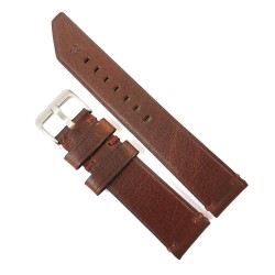 Curea de ceas maro din piele naturala 20mm 22mm 24mm WZ4159