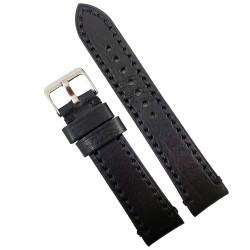 Curea de ceas neagra din piele naturala 18mm 20mm 22mm 24mm 26mm WZ4160