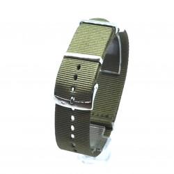 Curea Morellato tip NATO - Band Nastro Cannete - Culoare Kaki - 22mm - A01U3972A74073CR