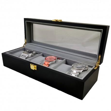 Cutie depozitare 6 ceasuri din lemn CL018