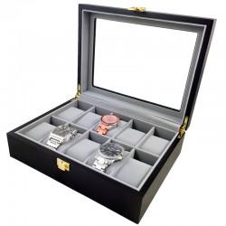 Cutie depozitare 10 ceasuri din lemn 10LN