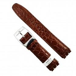 Curea ceas Swatch Morellato - Piele Naturala, Culoare Maro - 17mm - A01U2740640769MO