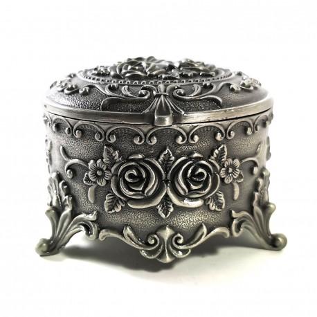 Casetă de bijuterii din antimoniu - Motive Florale - WZ4204