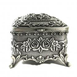 Casetă de bijuterii din antimoniu - Motive Florale - WZ4205