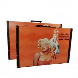 Set 2 Cutii Bijuterii tip servieta - Marilyn Monroe - WZ4211