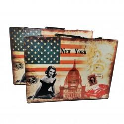 Set 2 Cutii Bijuterii tip servieta - New York - WZ4211