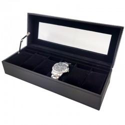 Cutie depozitare si organizare 6 ceasuri maro WZ984