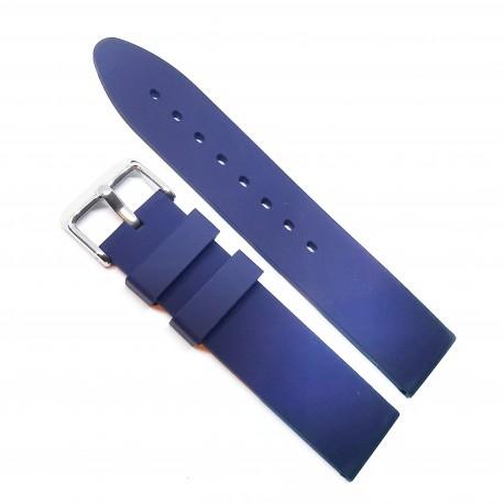 Curea de ceas din Silicon - Culoare Bleumarin / Design Minimalist - 18mm / 20mm / 22mm - 12S99