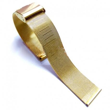 Bratara pentru ceas impletita aurie  20 mm WZ468