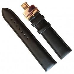 Curea Ceas Piele Neagra Deployant Auriu Roze 20mm 22mm 24mm WZ781