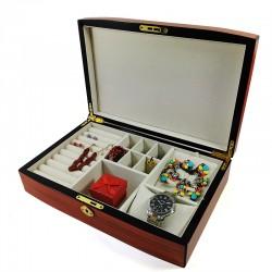 Caseta de bijuterii in lemn pentru inele cercei - Izabella