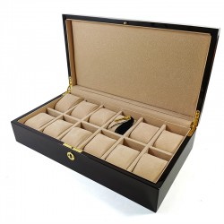 Cutie de bijuterii din lemn pentru 12 ceasuri