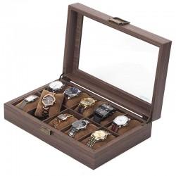 Cutie pentru 10 ceasuri Tabacco Brown - Culoare Maro - WZ4319