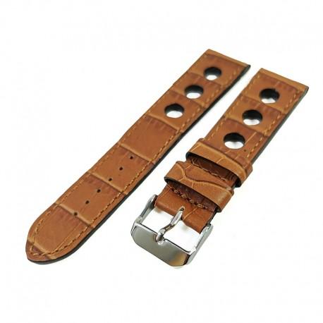 Curea de ceas din piele veritabila de vitel Maro-Deschis 18mm, 20mm, 22mm