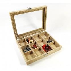 Caseta pentru bijuterii cu 12 spatii Tex Barn WZ4346