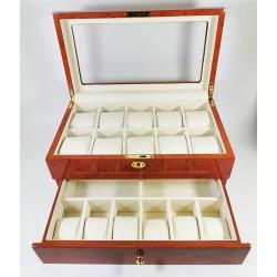 Resigilata - Cutie pentru depozitarea ceasurilor cu 16 ceasuri LS19