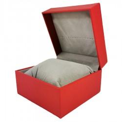 Cutie depozitare 1 ceas din piele rosie WZ3314