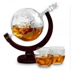 Set pentru Cognac, Whiskey Sticla-decantor glob si 2 pahare