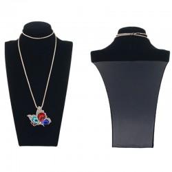 Bust expunere bijuterii - Catifea Neagra - BU2981-L