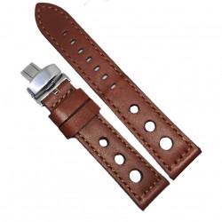 Curea de ceas maro din piele naturala 20mm 22mm 24mm WZ4154D