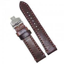 Curea de ceas maro din piele naturala 18mm 20mm 22mm 24mm 26mm WZ4164D