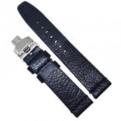 Curea de ceas Peyton Neagra din piele naturala 20mm, 22mm, 24mm - WZ4222D