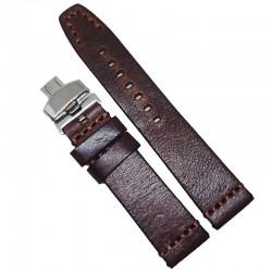 Curea de ceas maro din piele naturala 20mm 22mm 24mm WZ4166D