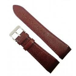 Curea de ceas Rosu Inchis cu capete curbate 24mm WZ4410