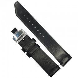 Curea de ceas Peyton Neagra din piele naturala 20mm, 22mm, 24mm - WZ4219D