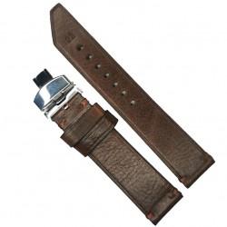 Curea de ceas Anti-alergica maro din piele naturala 20mm, 22mm, 24mm - WZ4176D