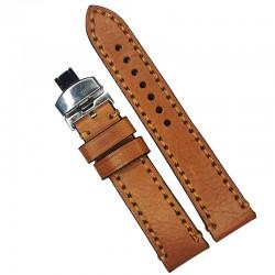 Curea de ceas maro din piele naturala 18mm 20mm 22mm 24mm WZ4157D