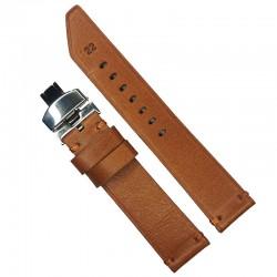 Curea de ceas Anti-alergica maro din piele naturala 20mm 22mm 24mm WZ4176D