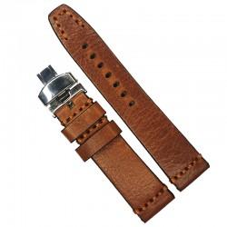 Curea de ceas maro-deschis din piele naturala 20mm 22mm 24mm 26mm WZ4180D