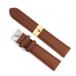 Curea de ceas Fleurus Maro din piele de vitel 20mm WZ4577