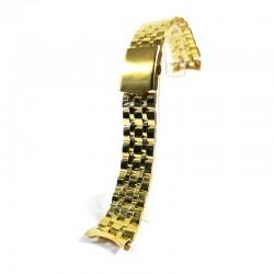 Bratara de ceas Aurie din Otel Inoxidabil - Capete Curbate - 20mm - WZ4626
