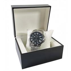 Caseta neagra din lemn pentru un ceas WZ4681