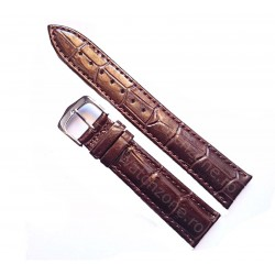 Curea Ceas Din Piele Maro Imprimeu Crocodil 16mm - 24mm