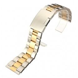 Bratara de ceas bicolora 22mm